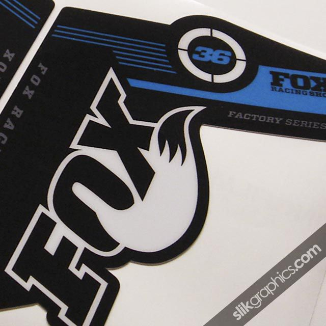 Fox 36 Factory Style Decal Kit - Black Forks - product images  of