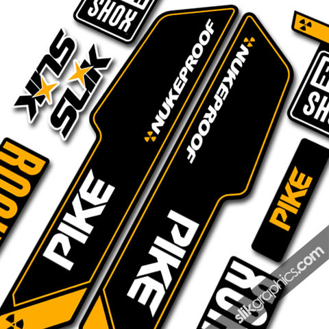 RockShox,PIKE,2013,Style,Decals,-,Nukeproof,Edition,Rockshox, PIKE, 2013, 2014, forks, decals, stickers, Nukeproof