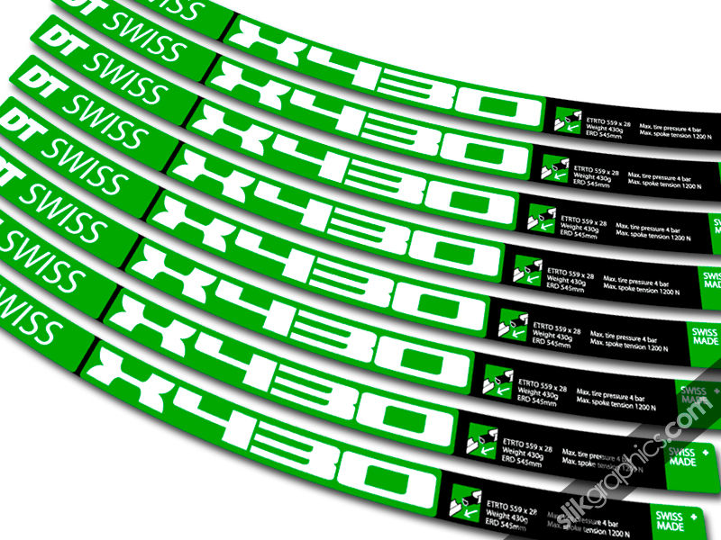 DT Swiss X430 Style Decal Kit - product images  of