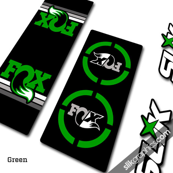 Fox Heritage Float X Style Shock Decals - product images  of