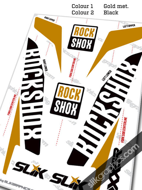RockShox Boxxer 2015 Style Decals - White Forks - product images  of