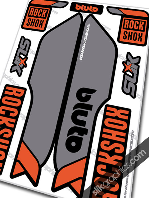 RockShox Bluto Style Decals - Black Forks - product images  of