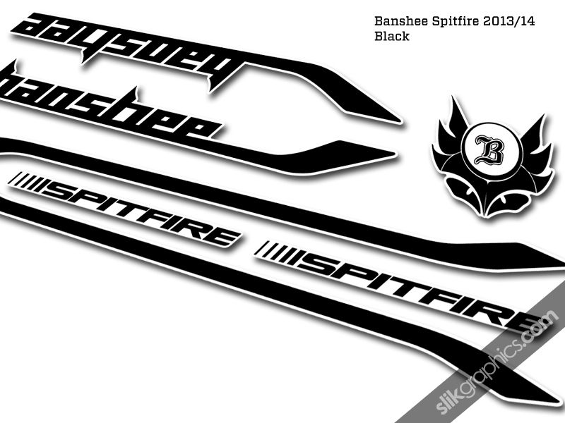 Banshee Spitfire 2014 Style Decal Kit - product images  of
