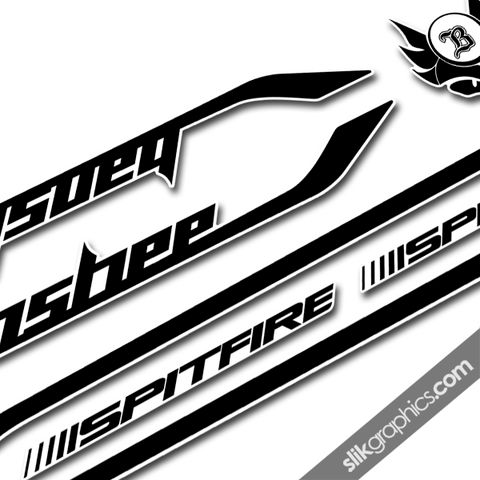 Banshee,Spitfire,2014,Style,Decal,Kit, Spitfire, decals, graphics, stickers, frame