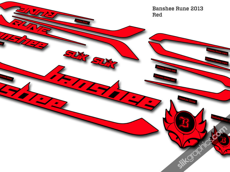 Banshee Rune 2013 Style Decal Kit - product images  of