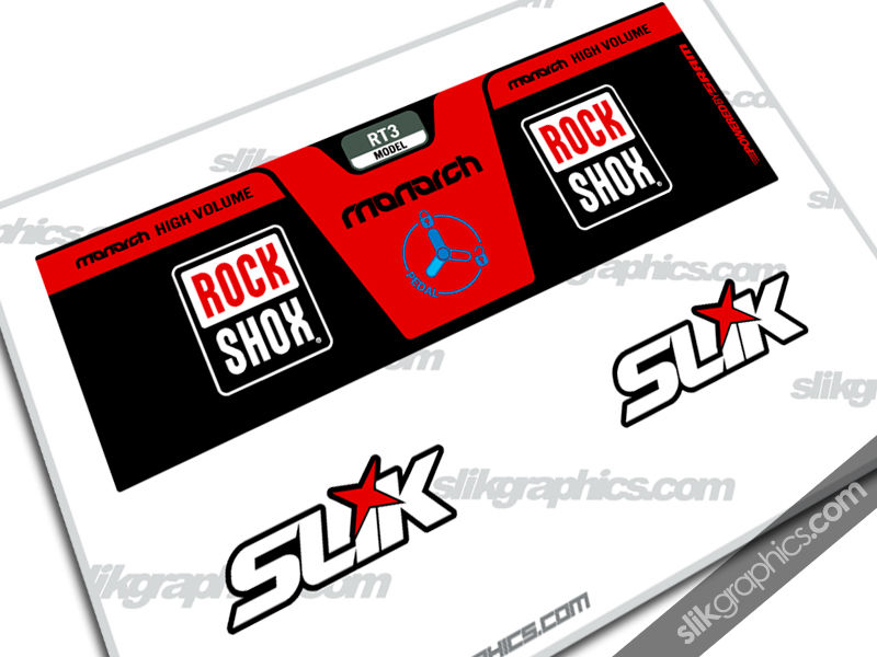 RockShox Monarch RT3 Style Shock Decal - product images  of