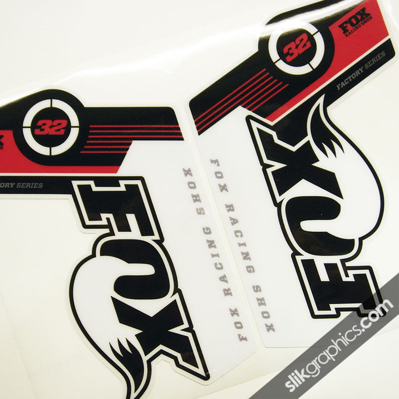 Fox 32 Factory Style Decal Kit - White Forks - product images  of