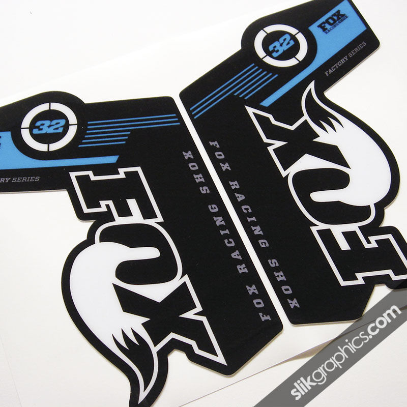Fox 32 Factory Style Decal Kit - Black Forks - product images  of