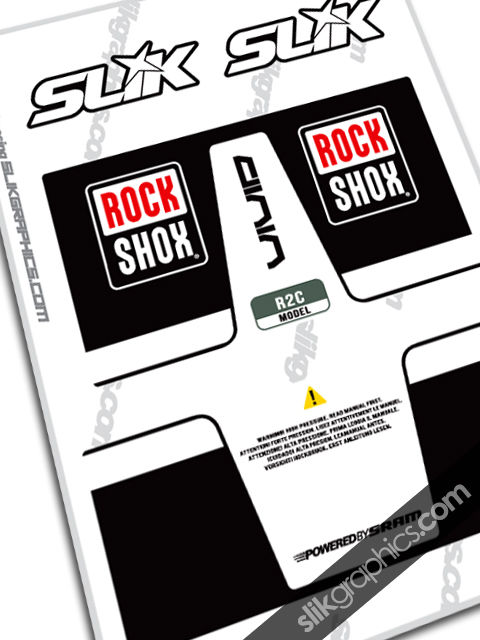 RockShox Vivid Coil Style Shock Decal - product images  of