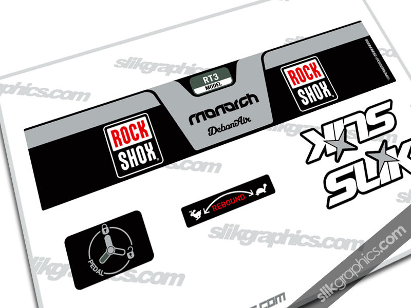 RockShox Monarch RT3 DebonAir Style Shock Decal - product images  of