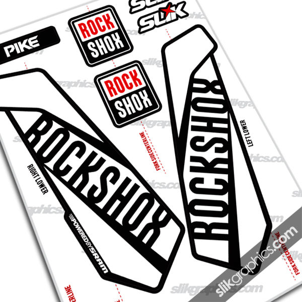 RockShox PIKE 2015 Style Decals - Black Forks - product images  of