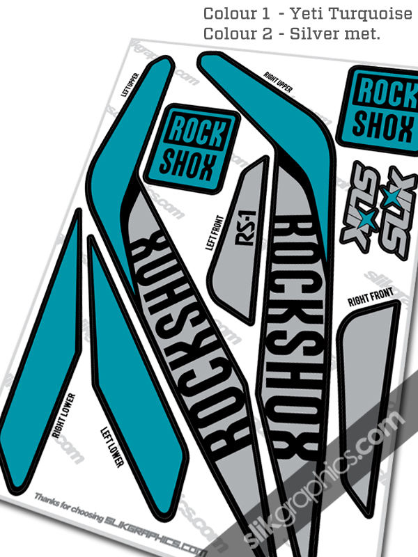 RockShox RS-1 Style Decals - Black Forks - product images  of