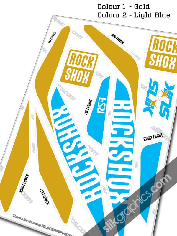 RockShox RS-1 Style Decals - White Forks - product images  of