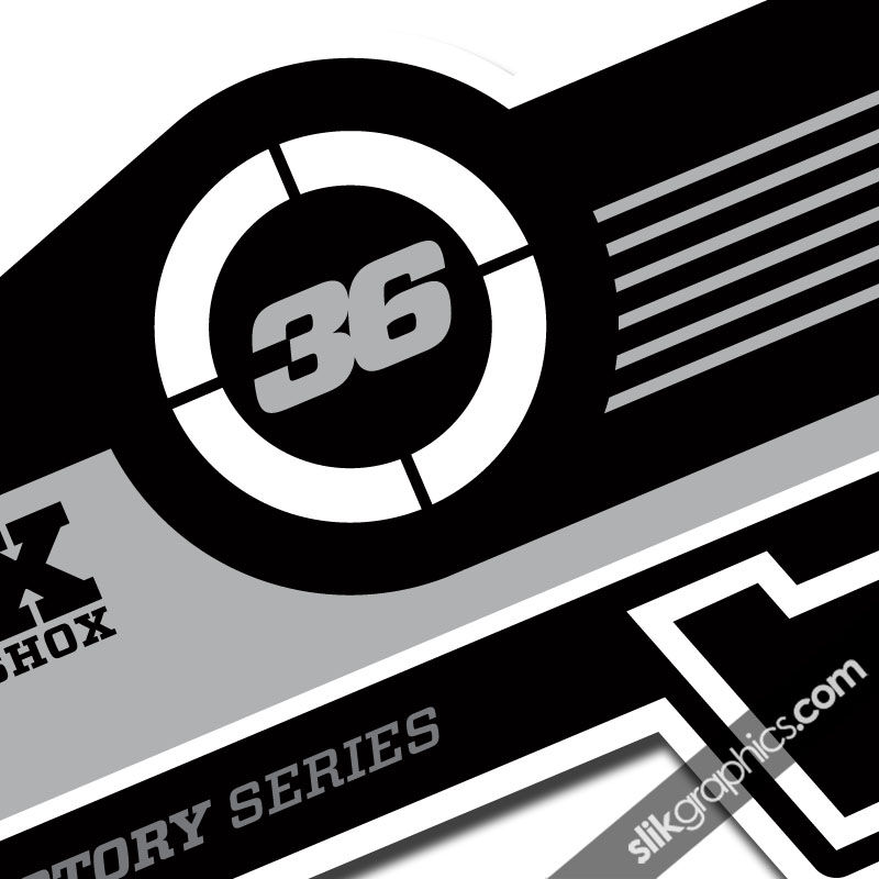 Fox 36 Factory Style Decal Kit - White Forks - product images  of