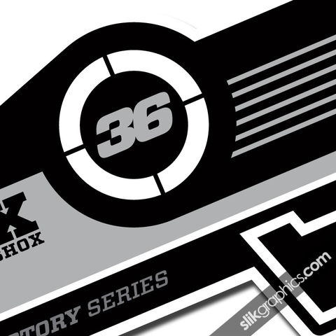 Fox,36,Factory,Style,Decal,Kit,-,White,Forks,Fox 36, fork decals, stickers