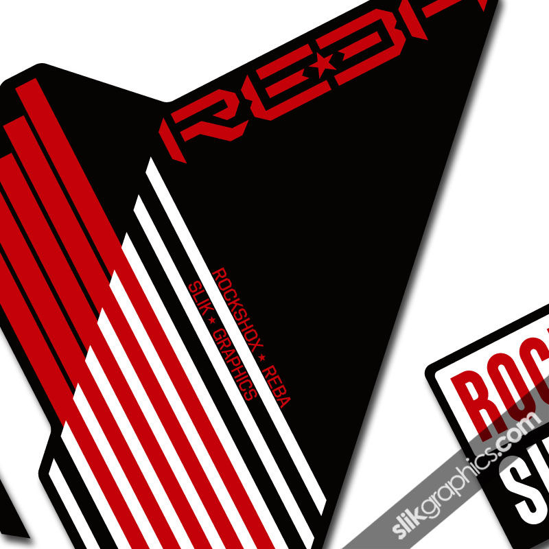 RockShox Reba 2009-2010 Style Decals - Black Forks - product images  of