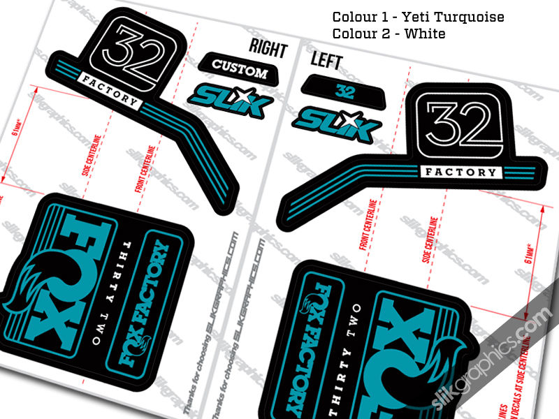 Fox 32 2016 Style Decal Kit - Black Forks - product images  of