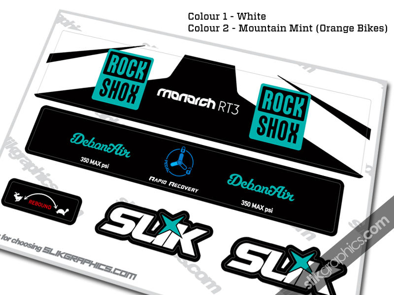2016 RockShox Monarch RT3 DebonAir Style Decal - product images  of