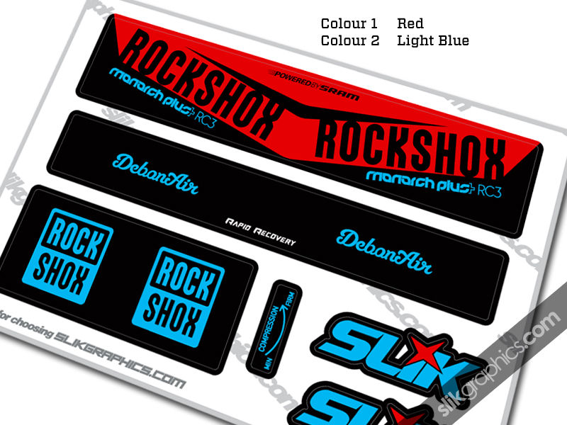 2016 RockShox Monarch Plus RC3 DebonAir Style Decal - product images  of