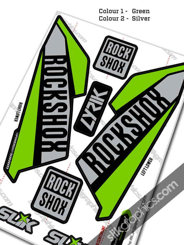RockShox Lyrik 2016 Style Decals - Black Forks - product images  of