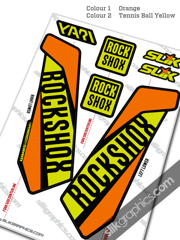 RockShox Yari 2015 Style Decals - Black Forks - product images  of