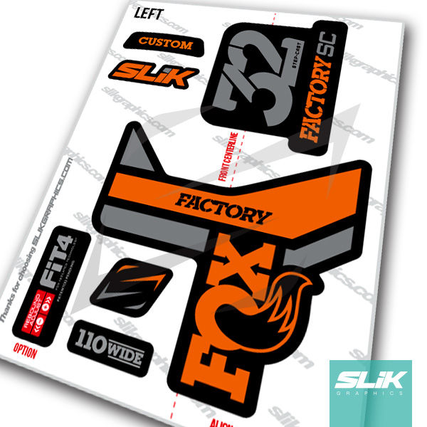 Fox 32 Step-Cast Factory Style Decal Kit - Black Forks - product images  of