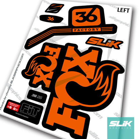 FOX 36 Heritage 2015 Fork Suspension Factory Decal Sticker Adhesive Camuflage