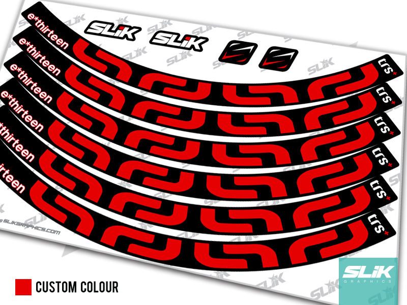 E Thirteen TRS+ Rim Decal Kit - product images  of
