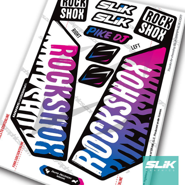 RockShox PIKE DJ 2017 Style Decals - Black Forks - product images  of