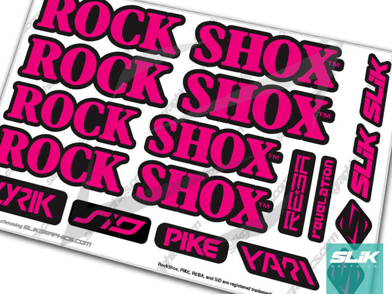 RockShox Retro Fork Decal Kit - product images  of