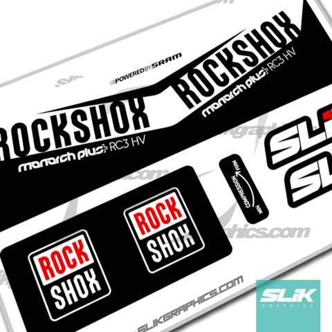 2016,RockShox,Monarch,Plus,RC3,HV,Style,Decal, Rockshox, Monarch Plus, RC3 HV, shock decals, decals, stickers