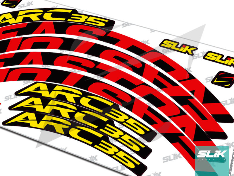 Easton ARC 35 Style Rim Decals - product images  of