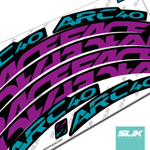 RaceFace,ARC,40,Style,Rim,Decals,Easton, RaceFace, Race Face, ARC, ARC 40, Stickers, rim decals