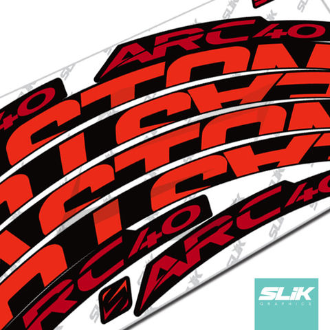 Easton,ARC,40,Style,Rim,Decals, ARC, ARC 40, Stickers, rim decals