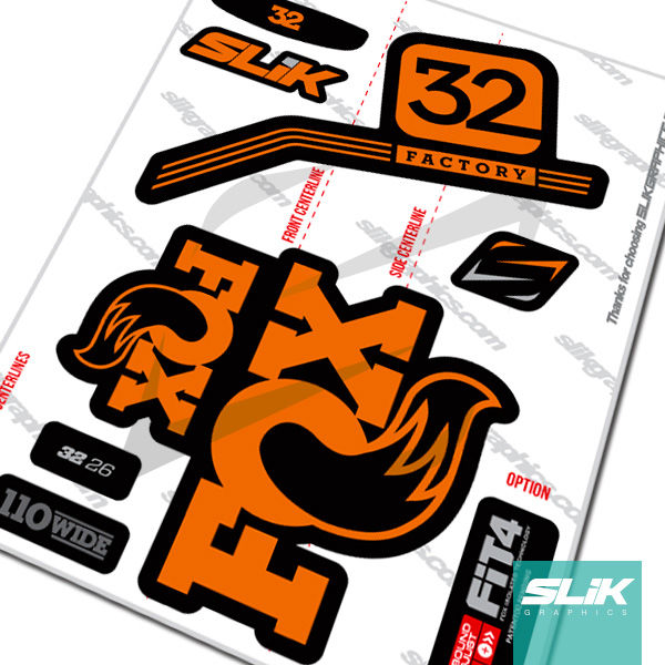 Fox 32 Pro Issue Style Decal Kit - Black Forks - product images  of