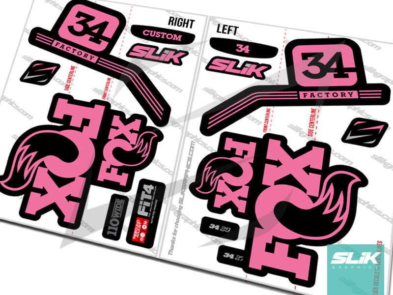 Fox 34 Pro Issue Style Decal Kit - Black Forks - product images  of