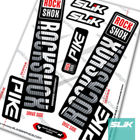 RockShox,PIKE,2018,Style,Decals,-,Black,Forks,Rockshox, PIKE, 2018, forks, decals, stickers,