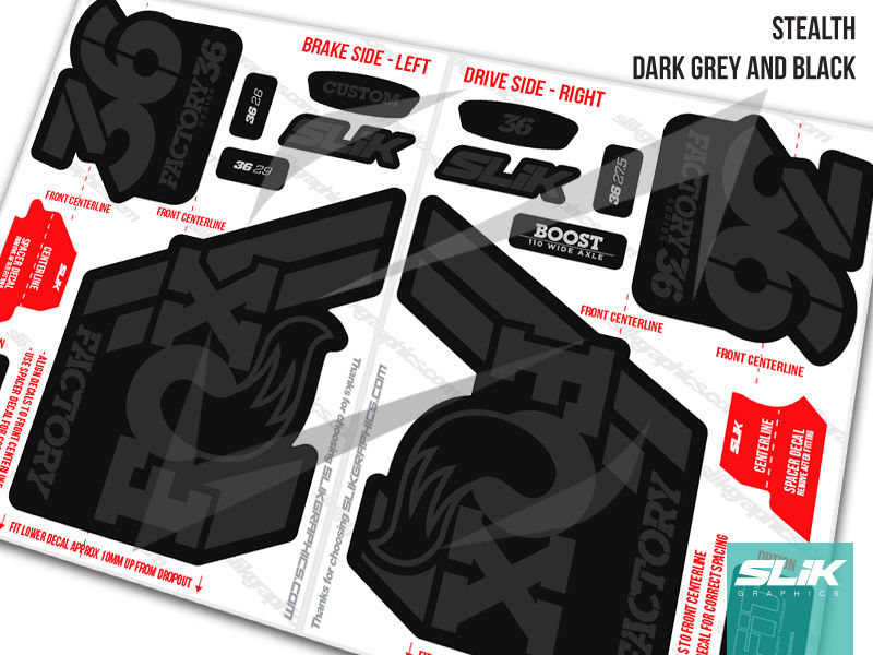Fox 36 2018 Factory Style Decal Kit - Black Forks - product images  of