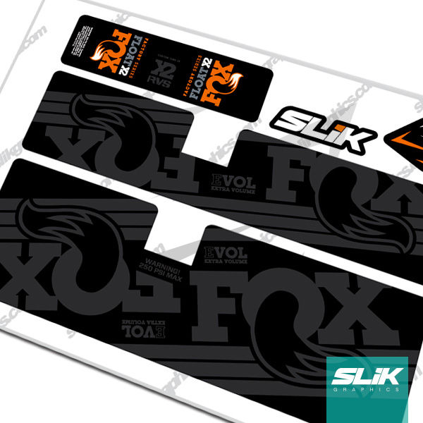 Fox Float X2 EVOL Style Shock Decals - product images  of