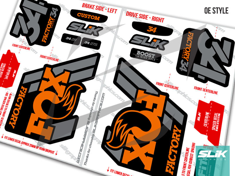 Fox 34 2018 Factory Style Decal Kit - Black Forks - product images  of