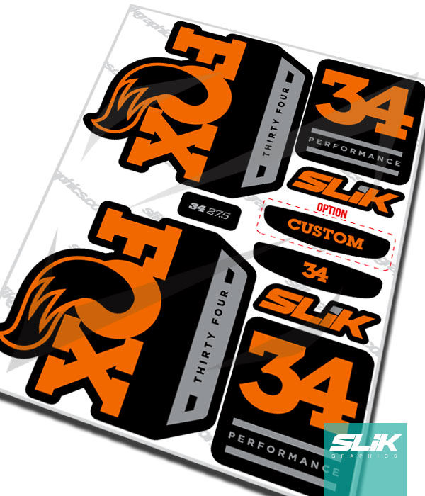 Fox 34 2018 Performance Series Style Decal Kit - Black Forks - product images  of
