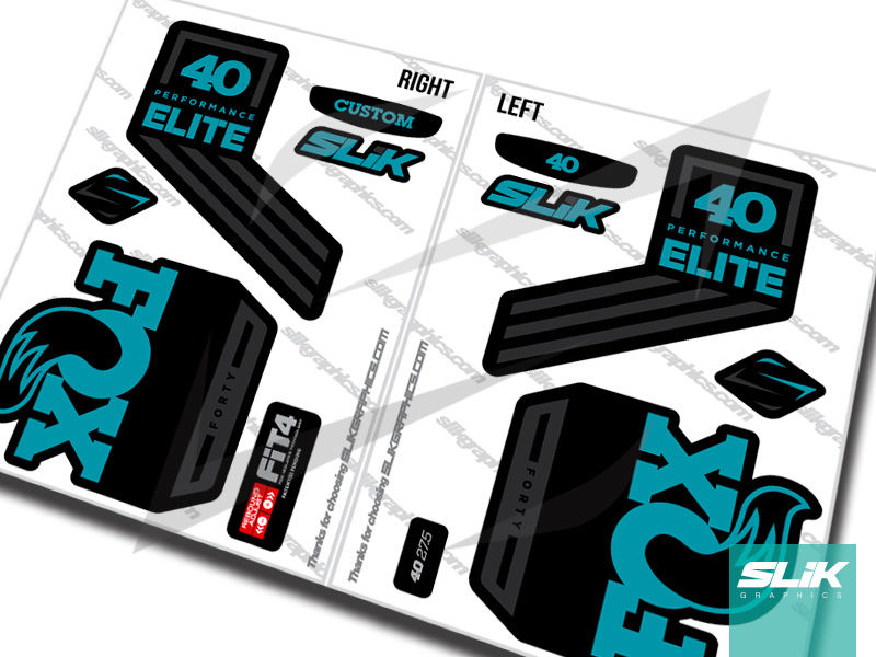 Fox 40 2018 Performance ELITE Decal Kit - Black Forks - product images  of