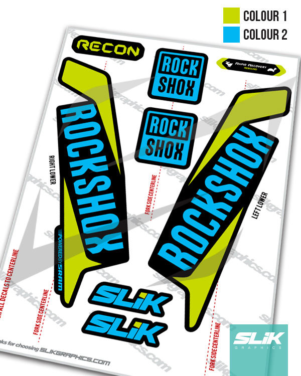 RockShox Recon 2016 Style Decals - Black Forks - product images  of