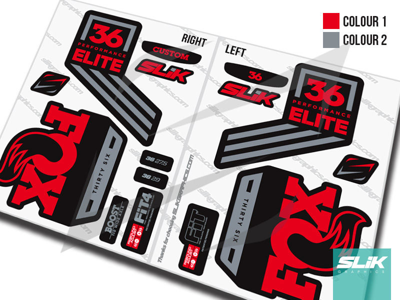 Fox 36 2018 Performance ELITE Decal Kit - Black Forks - product images  of