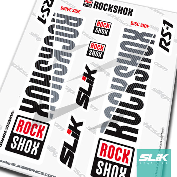 RockShox RS-1 2018 Style Decals - White Forks - product images  of