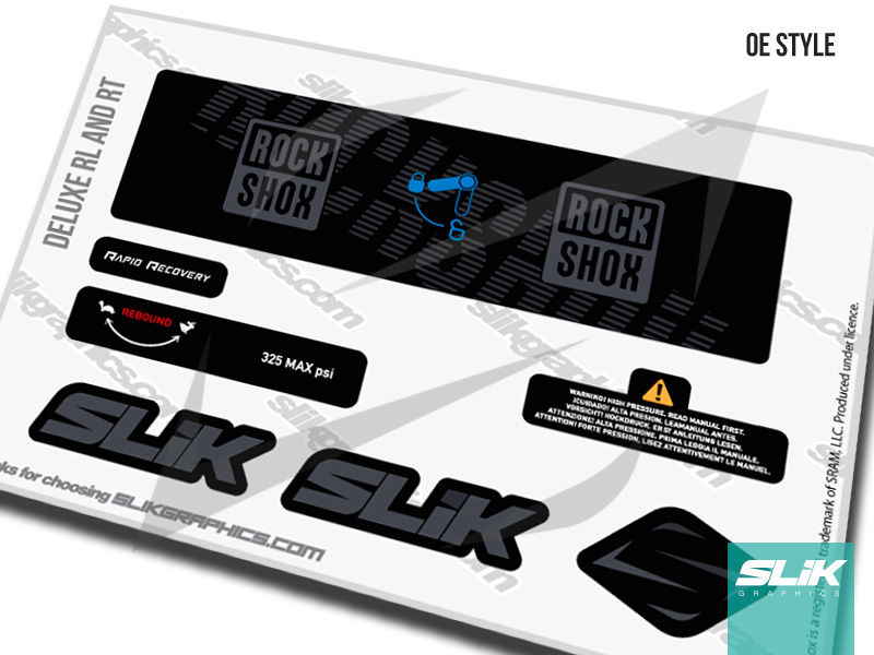 RockShox Deluxe RL/RT Decal Kit - product images  of