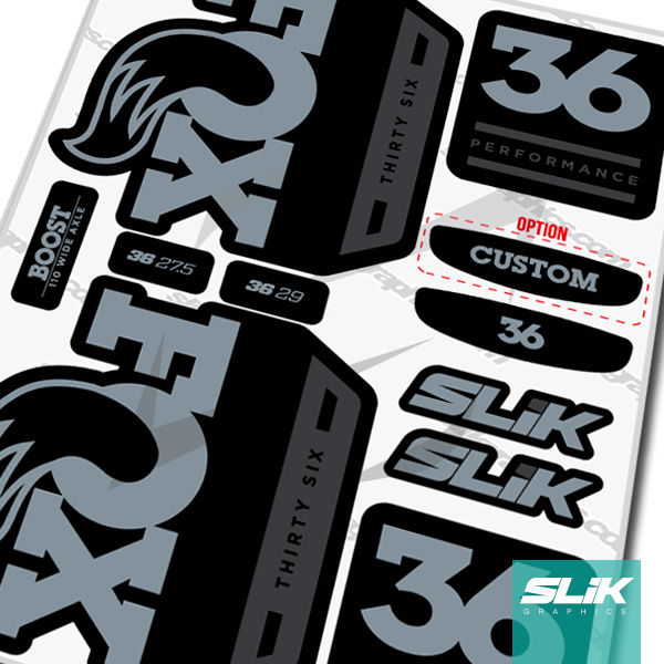 Fox 36 2018 Performance Series Style Decal Kit - Black Forks - product images  of