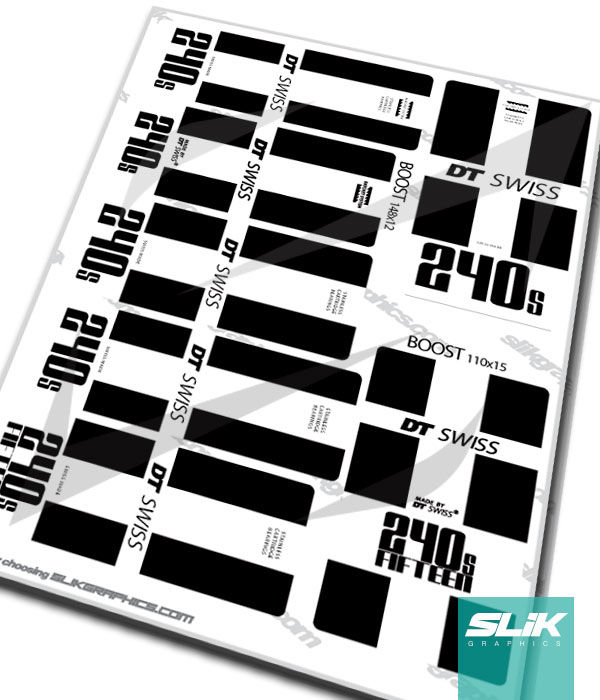 DT Swiss 240s Hub Decal Kit - product images  of