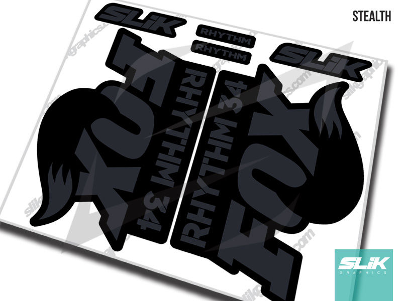 Fox 34 Rhythm Series Style Decal Kit - Black Forks - product images  of