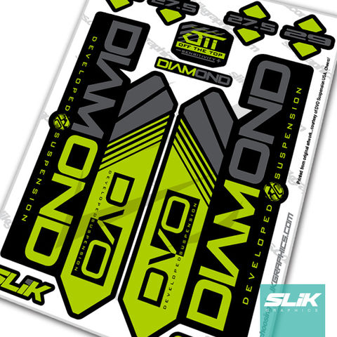 DVO,Diamond,Decal,Kit,-,Black,Forks,Fork Decals, Stickers, Mountain Bike, DVO, Suspension, Diamond, Custom Decals